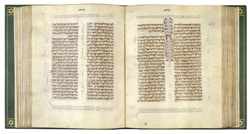 The Lisbon Bible, 1482, vol 1. Text containing prohibition of mixing seed.